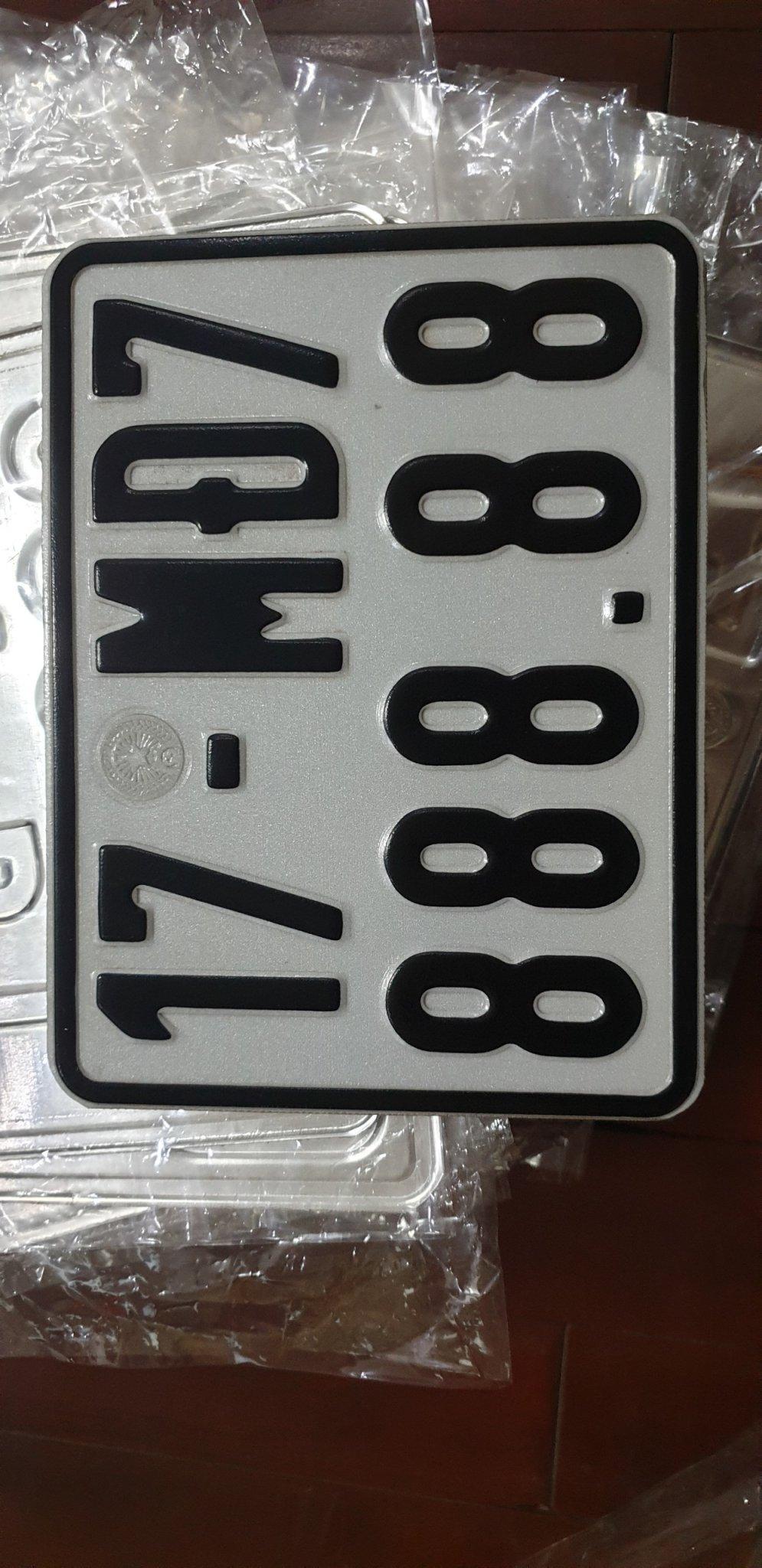 Biển số xe máy điện